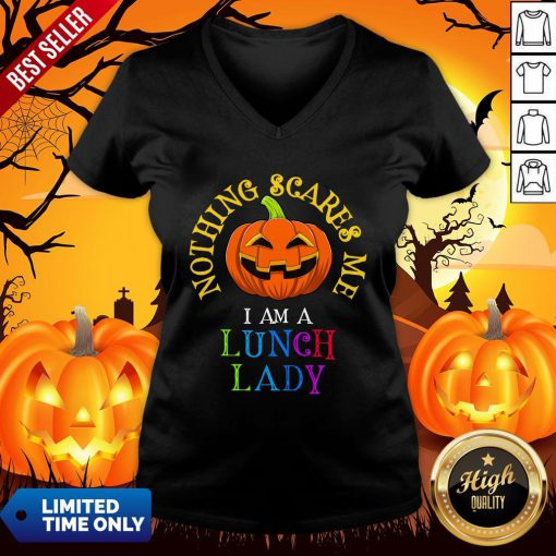 This Is My Spooky Nothing Scares Me, I Am A Lunch Lady T-V-neck