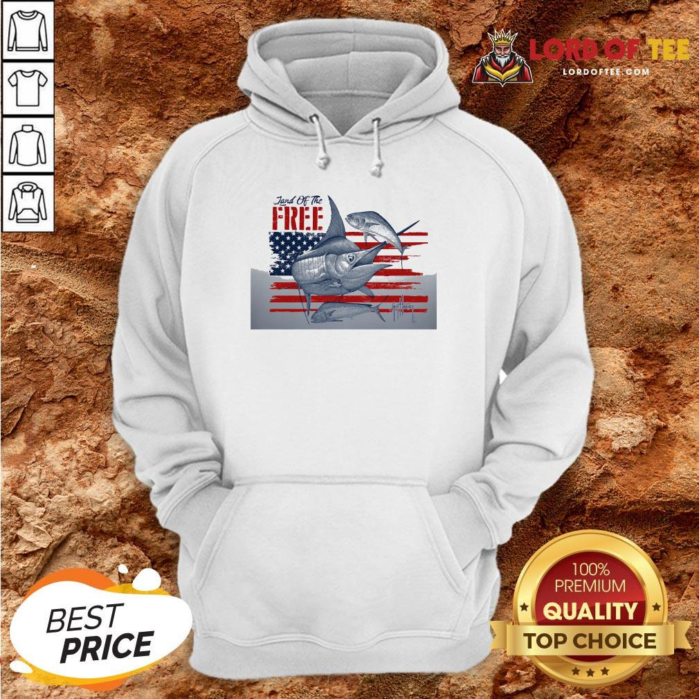 Top American Flag Land Of The Free Fish Hoodie Design By Lordoftee.com