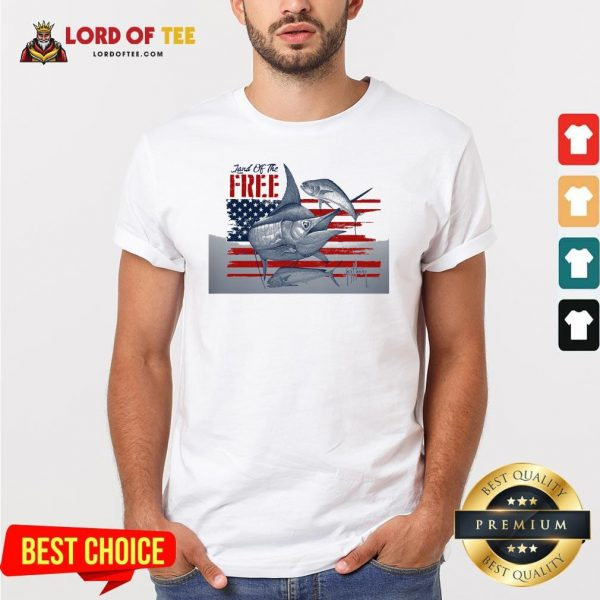 Top American Flag Land Of The Free Fish Shirt Design By Lordoftee.com