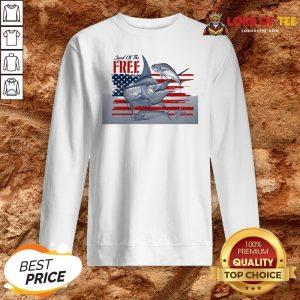 Top American Flag Land Of The Free Fish Sweatshirt Design By Lordoftee.com