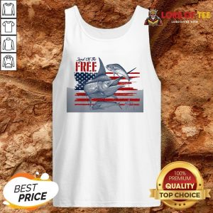Top American Flag Land Of The Free Fish Tank Top Design By Lordoftee.com