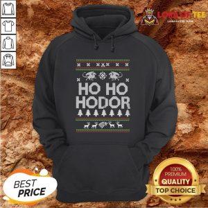 Top Game Of Throne HO HO Hodor Ugly Christmas Sweater Hoodie Design By Lordoftee.com