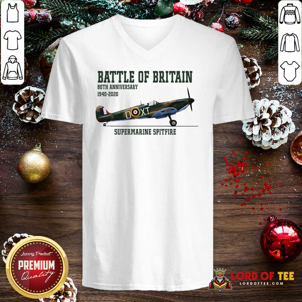 Battle Of Britain 80th Anniversary 1940 2020 Supermarine Spitfire V-neck