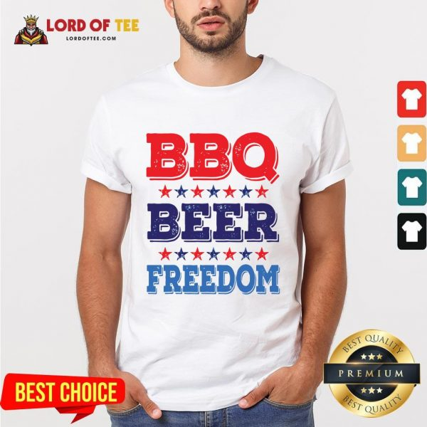 Awesome BBQ BEER And FREEDOM Shirt
