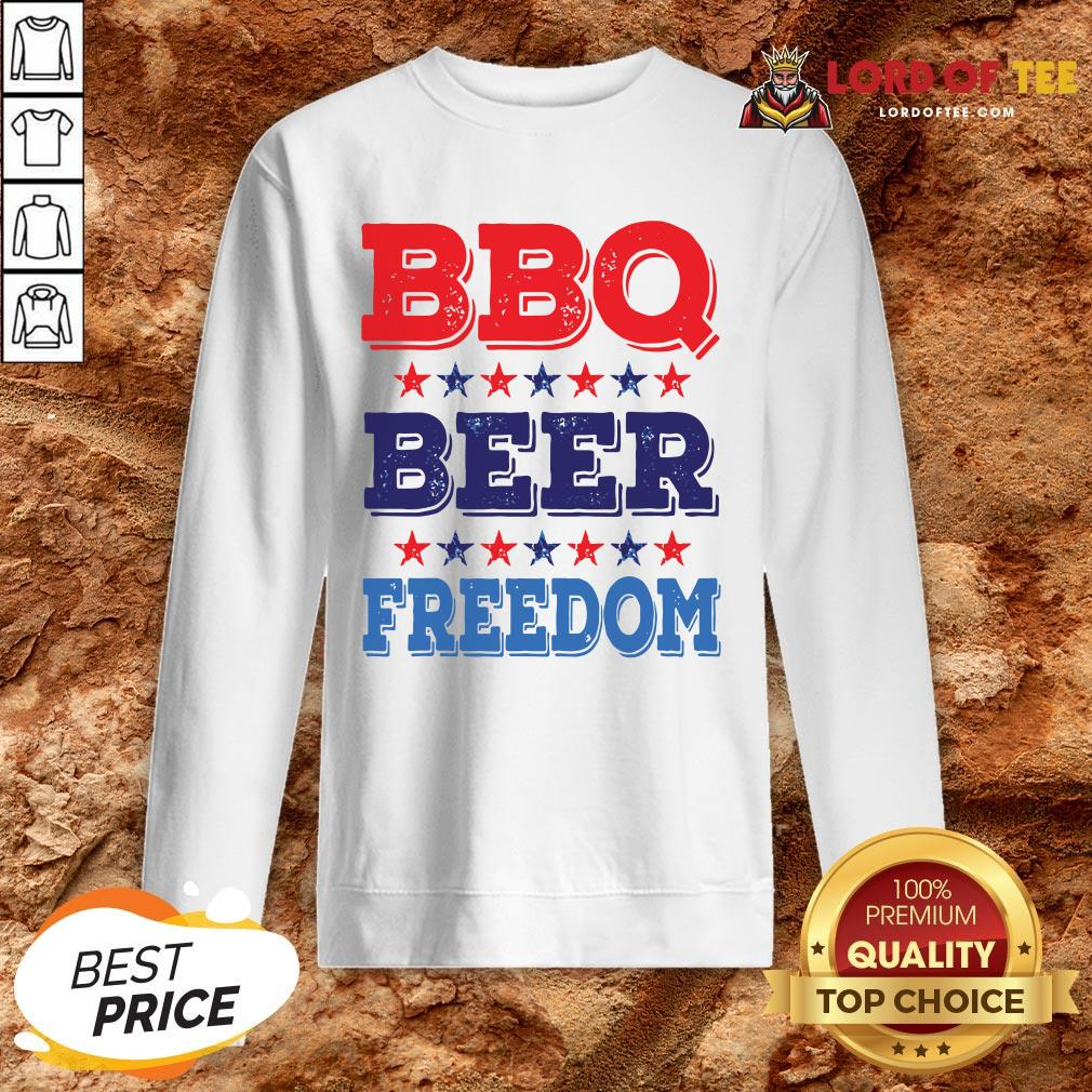 Awesome BBQ BEER And FREEDOM SweatShirt