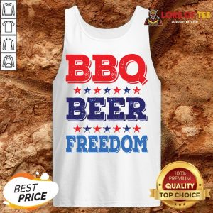 Awesome BBQ BEER And FREEDOM Tank Top