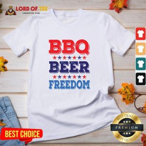 Awesome BBQ BEER And FREEDOM V-neck