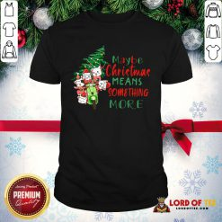 Awesome Cats Tree Maybe Christmas Means Something More Shirt