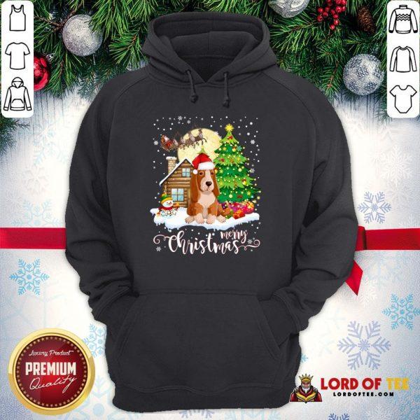 Basset Hound Merry Christmas Hoodie