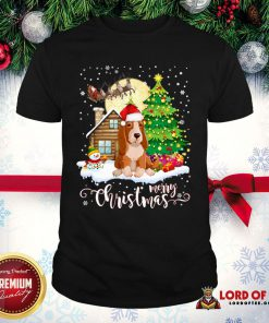 Basset Hound Merry Christmas Shirt