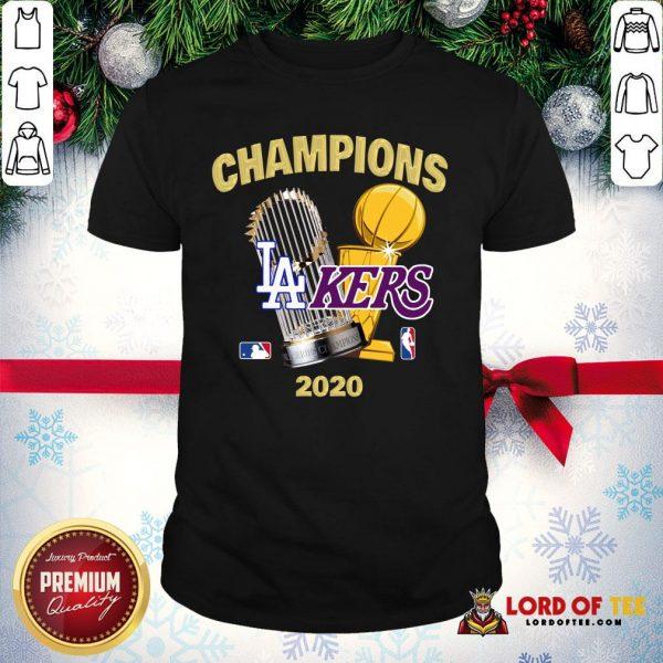 Champions Los Angeles Lakers World Series Champions 2020 Shirt