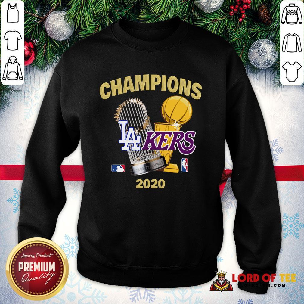 Champions Los Angeles Lakers World Series Champions 2020 SweatShirt