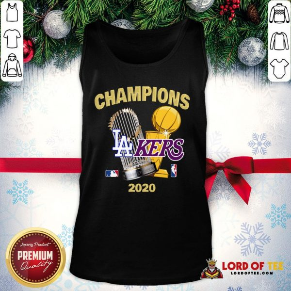 Champions Los Angeles Lakers World Series Champions 2020 Tank Top