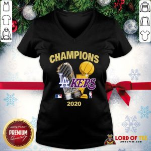 Champions Los Angeles Lakers World Series Champions 2020 V-neck