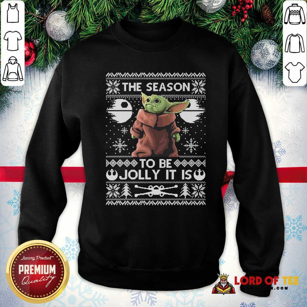 Cute 2020 The Child Baby Yoda Ugly Christmas SweatShirt