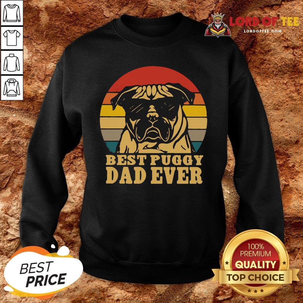 Cute Best Puggy Dad Ever Vintage SweatShirt