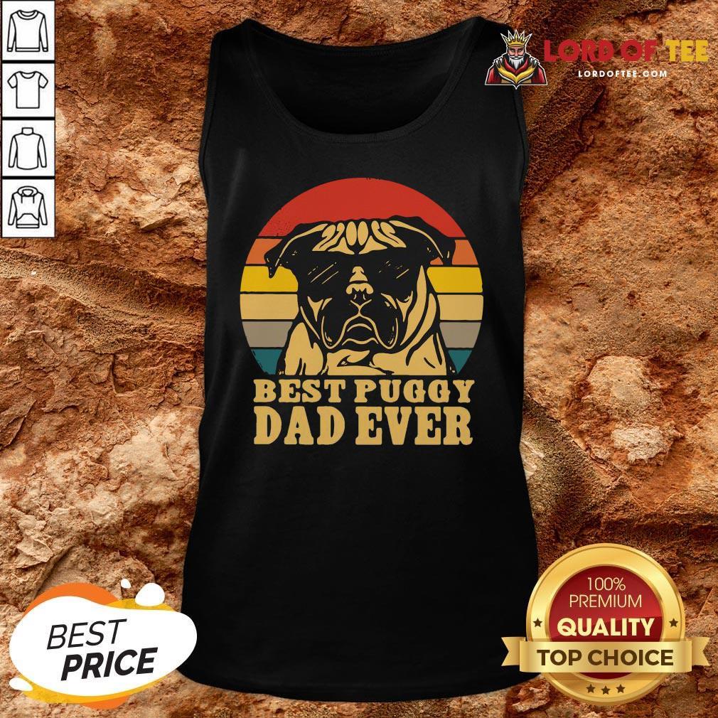 Cute Best Puggy Dad Ever Vintage Tank Top