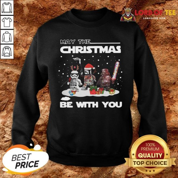 Cute Star Wars Character May The Christmas Be With You Christmas SweatShirt