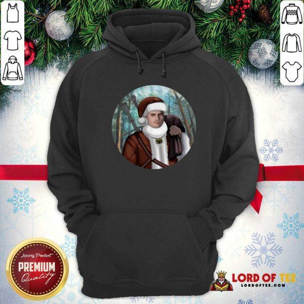 Cute The Witcher Santa Crewneck Hoodie