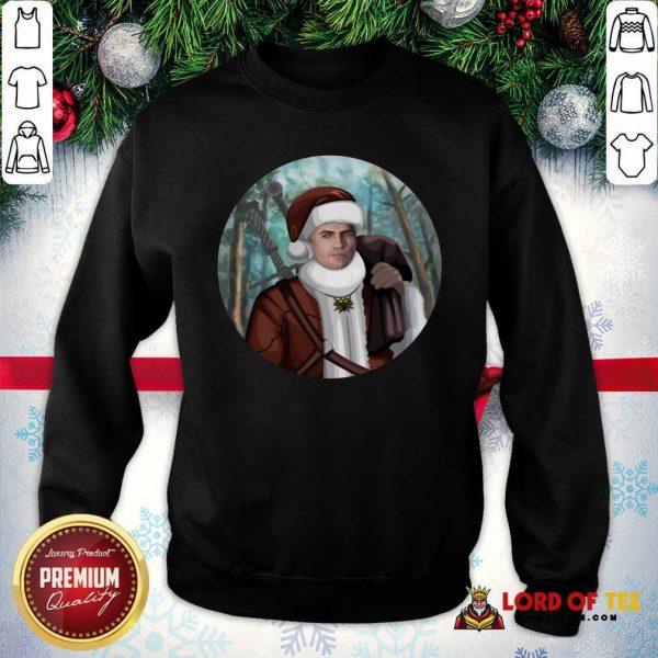 Cute The Witcher Santa Crewneck SweatShirt