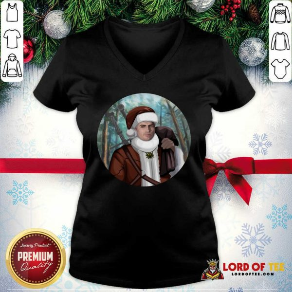 Cute The Witcher Santa Crewneck V-neck