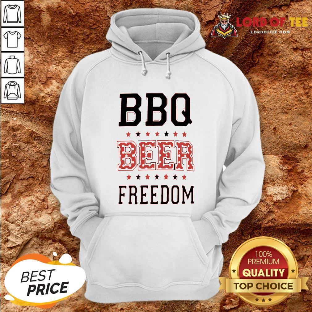 Funny BBQ Beer Freedom Flag US Hoodie