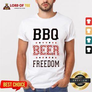 Funny BBQ Beer Freedom Flag US Shirt