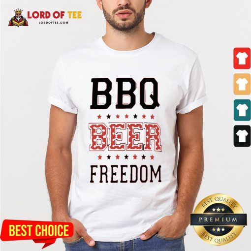 Funny BBQ Beer Freedom Flag US Shirt