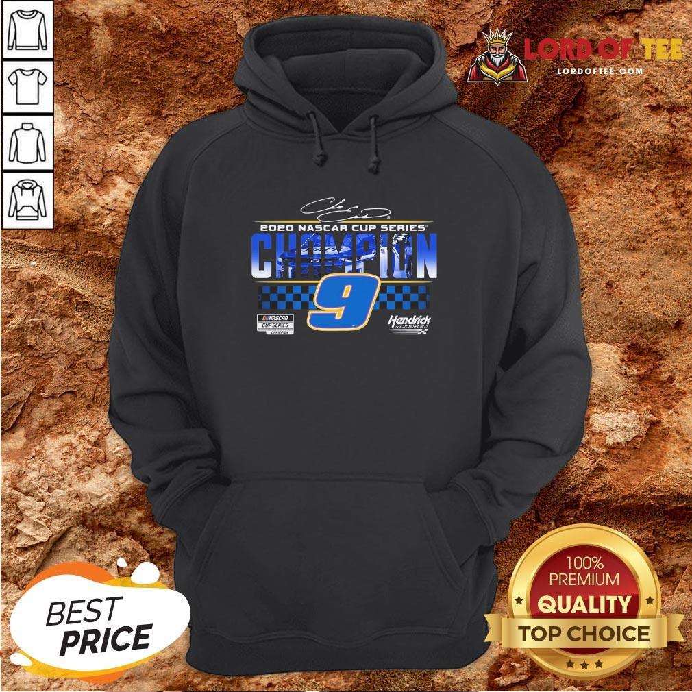 Funny Chase Elliott 9 Hendrick Motorsports 2020 Nascar Cup Series Champion Signature Hoodie