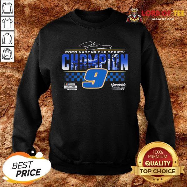 Funny Chase Elliott 9 Hendrick Motorsports 2020 Nascar Cup Series Champion Signature SweatShirt