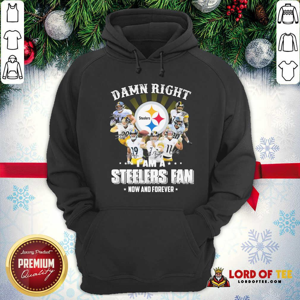 Damn Right I Am A Pittsburgh Steelers Fan Now And Forever Signature Hoodie