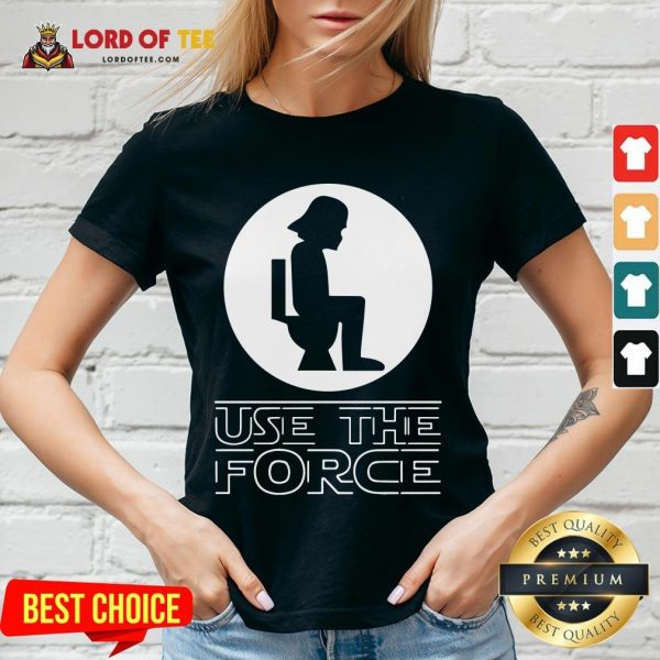 Funny Darth Vader Toilet Use The Force V-neck