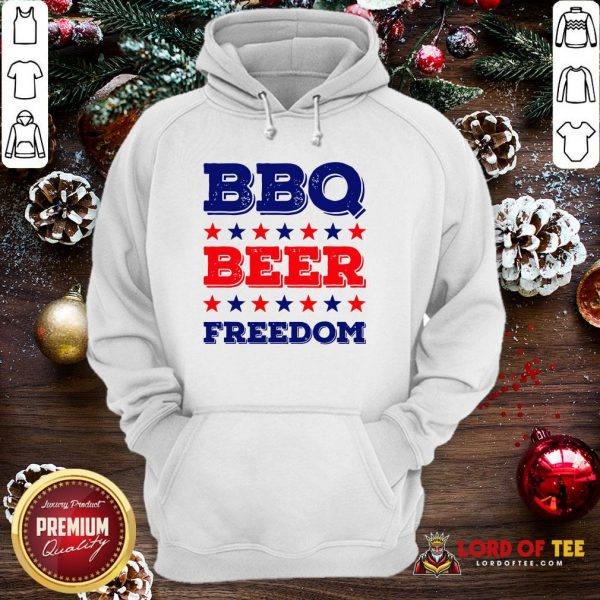 Good BBQ Beer Freedom Start Hoodie