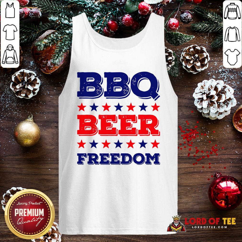 Good BBQ Beer Freedom Start Tank Top