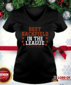 Best Backfield In The League This Claim In Not Disputed v-neck