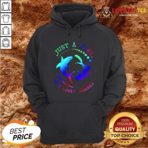 Good Just A Girl Who Loves Sharks Hoodie