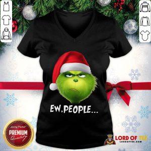Good The Grinch Ew People Christmas V-neck