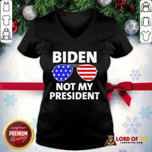 Hot Biden Is Not My President Funny Anti Joe Biden Political V-neck
