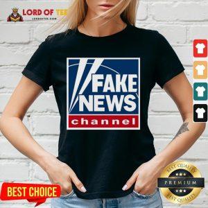 Hot Fake News Channel V-neck