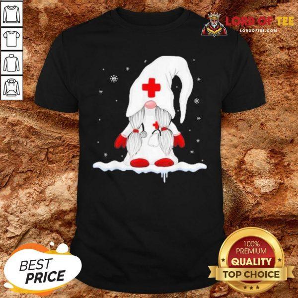 Hot Gnome Nurse Christmas Shirt