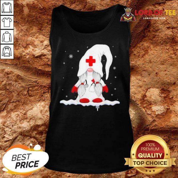 Hot Gnome Nurse Christmas Tank Top