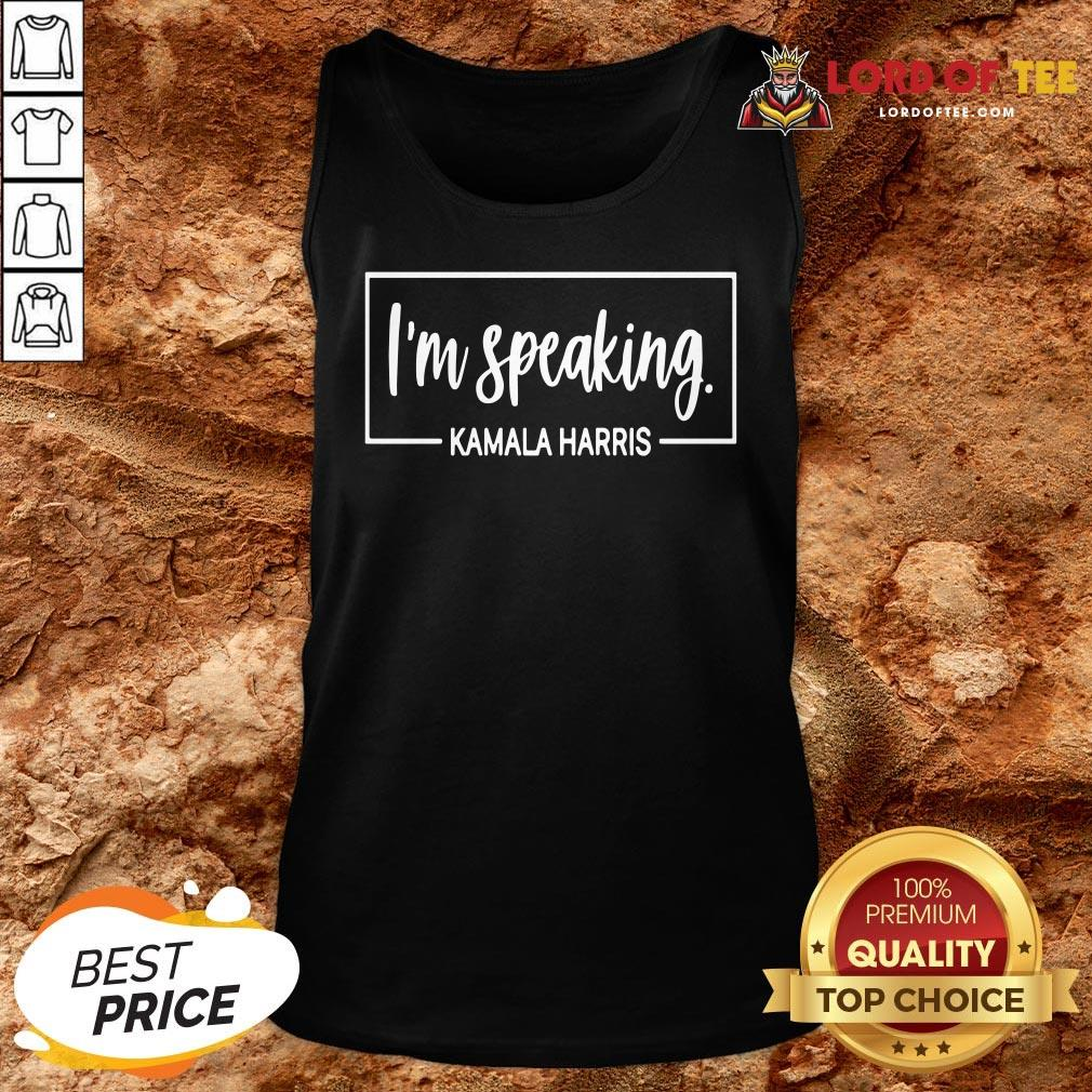 Hot I'm Speaking Kamala Harris Tank Top