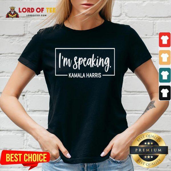 Hot I'm Speaking Kamala Harris V-neck