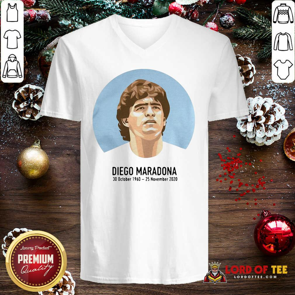 RIP Diego Maradona 30 October 1960 – 25 November 2020 V-neck