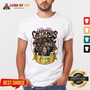 Nice 2020 NBA Champions Los Angeles Lakers 17 Champs Cartoon Shirt