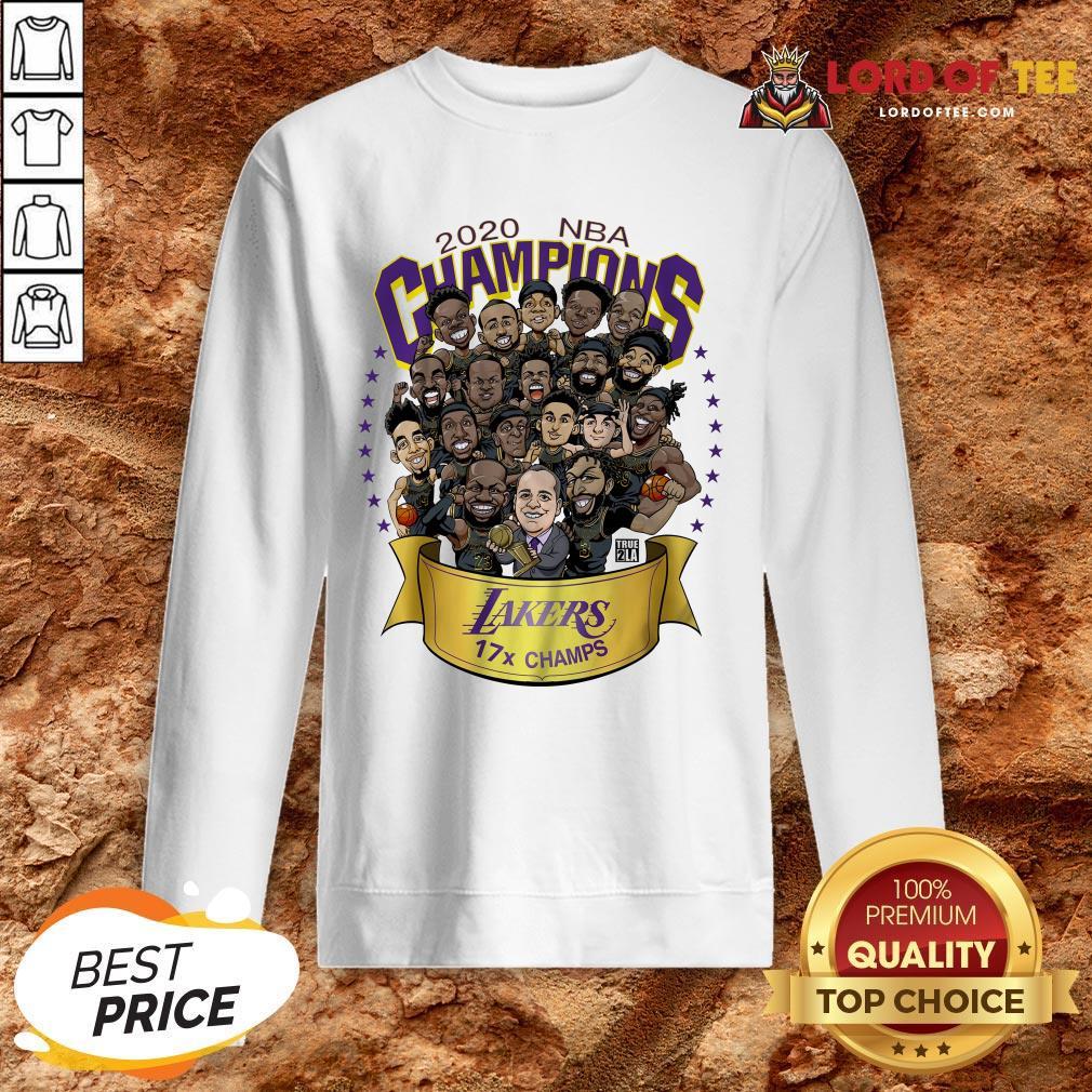 Nice 2020 NBA Champions Los Angeles Lakers 17 Champs Cartoon SweatShirt