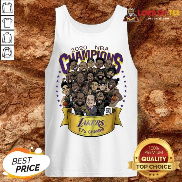 Nice 2020 NBA Champions Los Angeles Lakers 17 Champs Cartoon Tank Top
