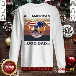 All American Pug Dog Dad Vintage SweatShirt