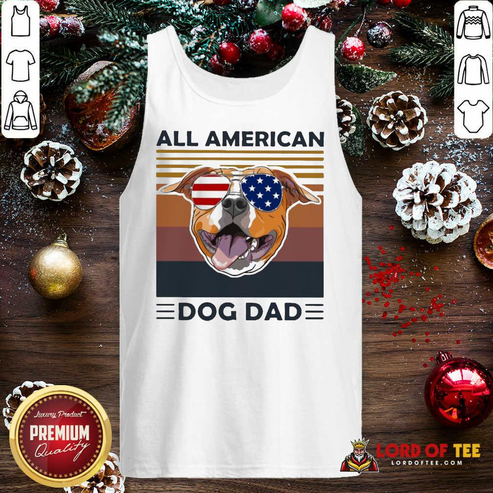 All American Pug Dog Dad Vintage Tank Top
