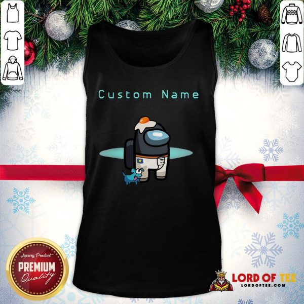 Nice Among Us Custom Name Crewmate All Character Pet Hat Outfit Birthday Tank Top
